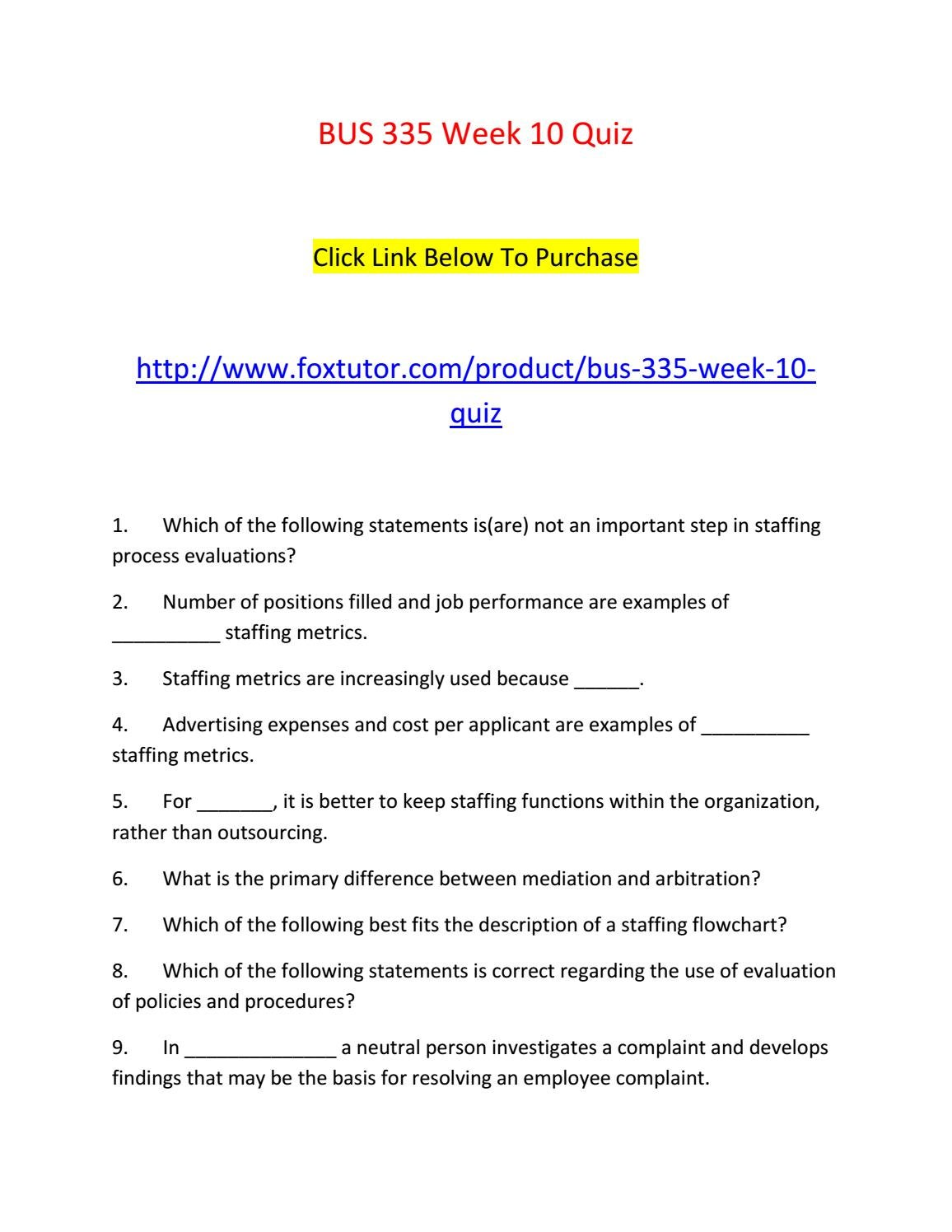 bus 335 week 10 quiz by bus335ft issuu - Staffing Flowchart