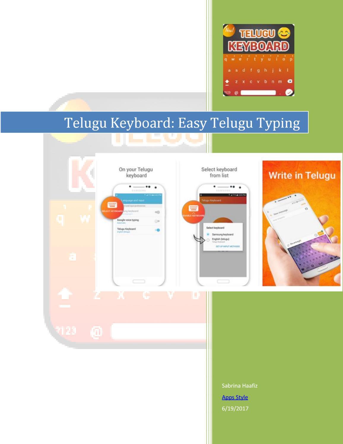 Telugu keyboard easy Telugu Typing by Sabrina Haafiz - issuu