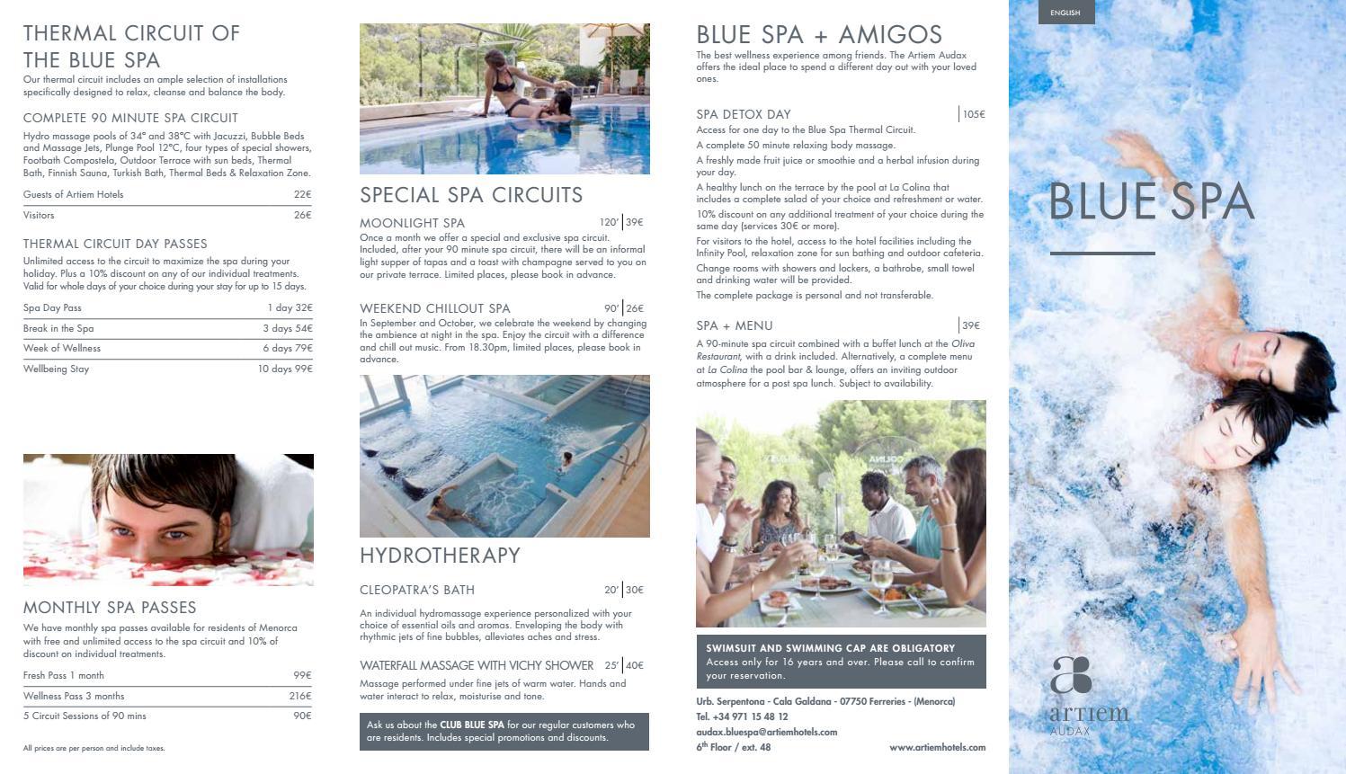 Artiem audax blue spa tratamientos eng by @ARTIEM - issuu