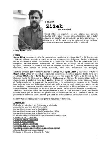 Zizek slavoj compilacion de textos by Sergio - issuu