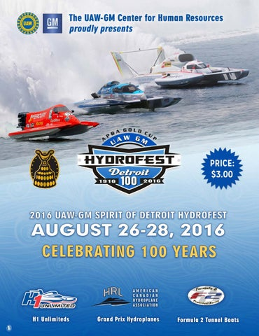 APBA Gold Cup UAW GM Hydrofest Detroit 2016 program guide by Echo