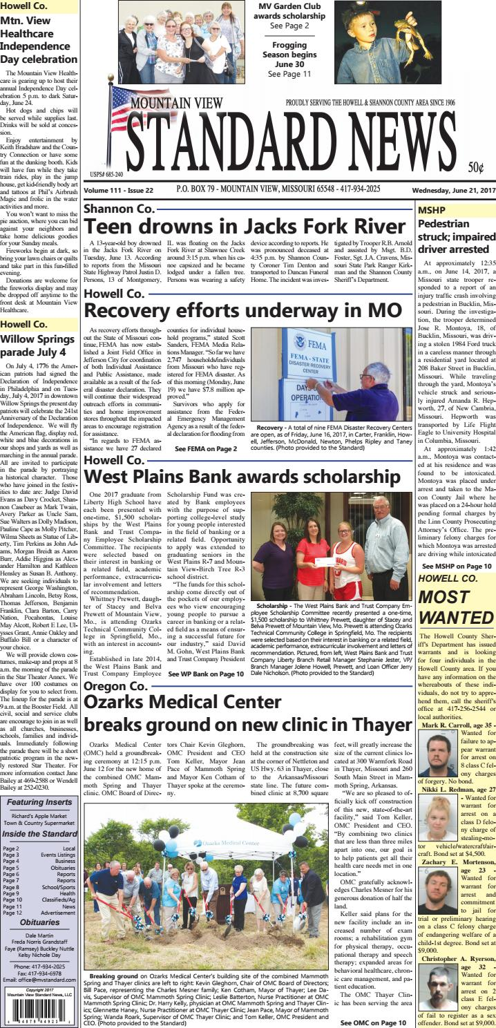 Mv standard issue 6 21 2017 by Mountain View Standard News - issuu