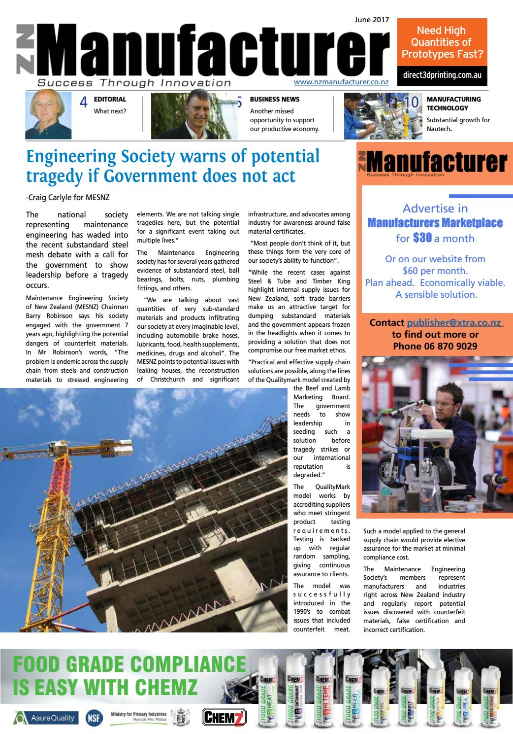 NZ Manufacturer June 2017 by Media Hawkes Bay Limited - issuu
