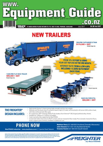 Equipment Guide July 2017 Issue by NZ Truck & Driver - issuu
