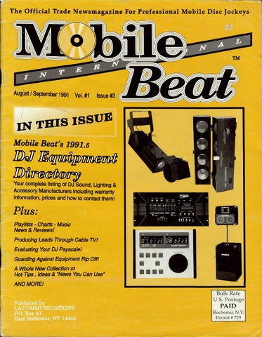 Issue 003 - August   September 1991 - DJ Equipment Directory by ... f72c8a5e09b