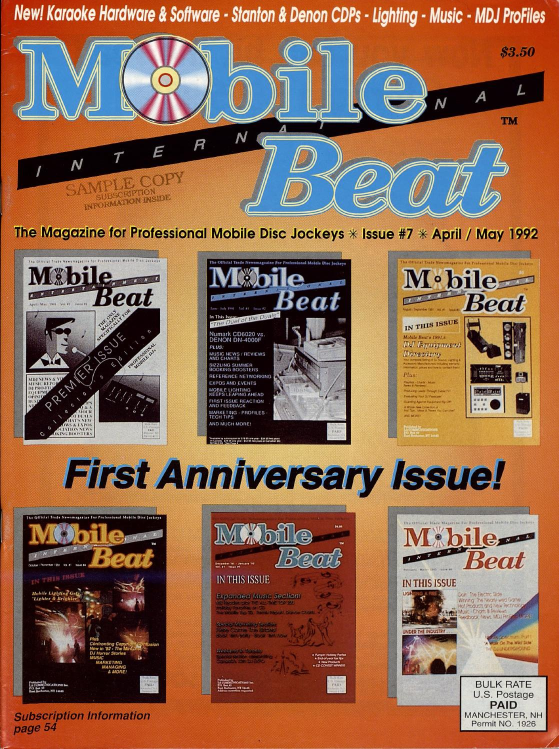 Issue 007 April May 1992 First Anniversary By Mobile Beat Thx Audio Engine 8211 The Best Speaker Concept Magazine Issuu