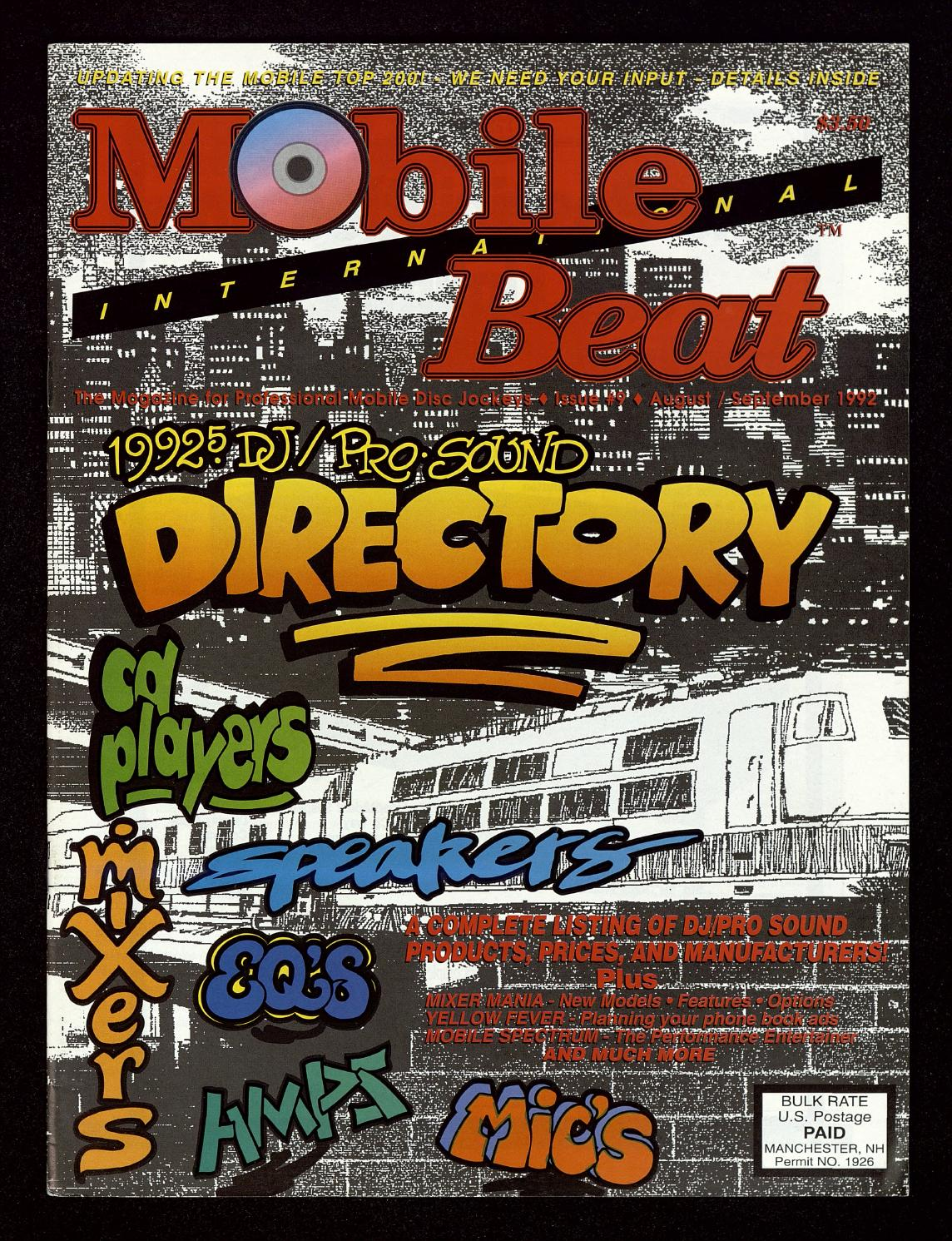Issue 009 - August/September 1992 - DJ/Pro Sound Directory
