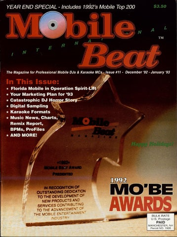 Issue 011 - December 1992 - Year End Special by Mobile Beat Magazine