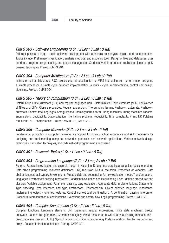 BAU Science - Undergraduate Catalogue 2010 2011Undergraduate
