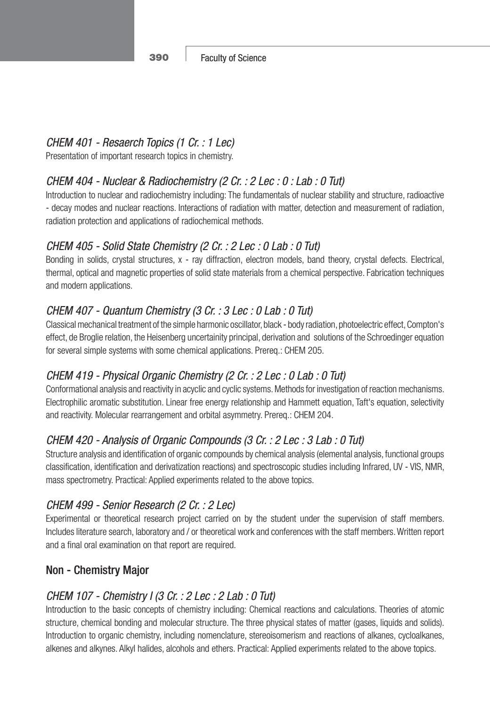 BAU Science - Undergraduate Catalogue 2010 2011Undergraduate catalogue  science 2010 2011