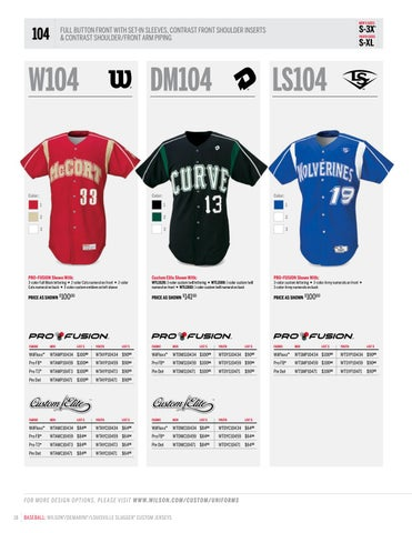 1c322089a80 Wilson Baseball and Softball Uniform Catalog 2017 by LTS - Legacy ...