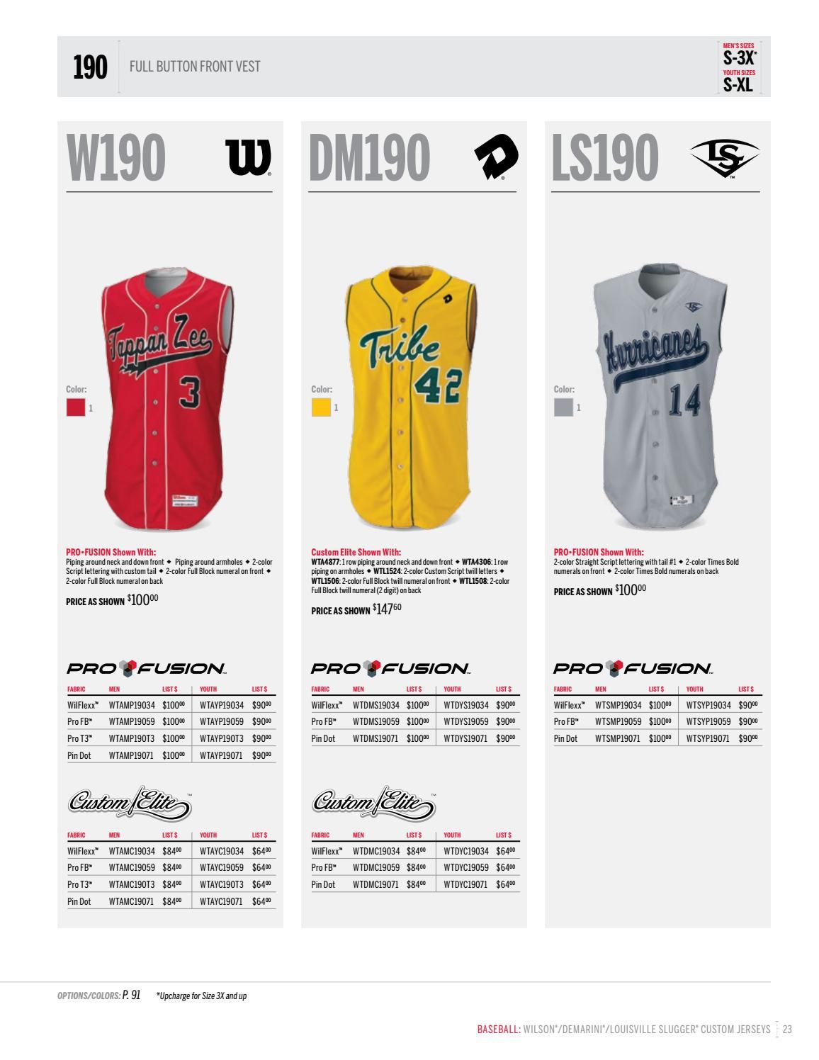 Wilson Baseball and Softball Uniform Catalog 2017 by LTS