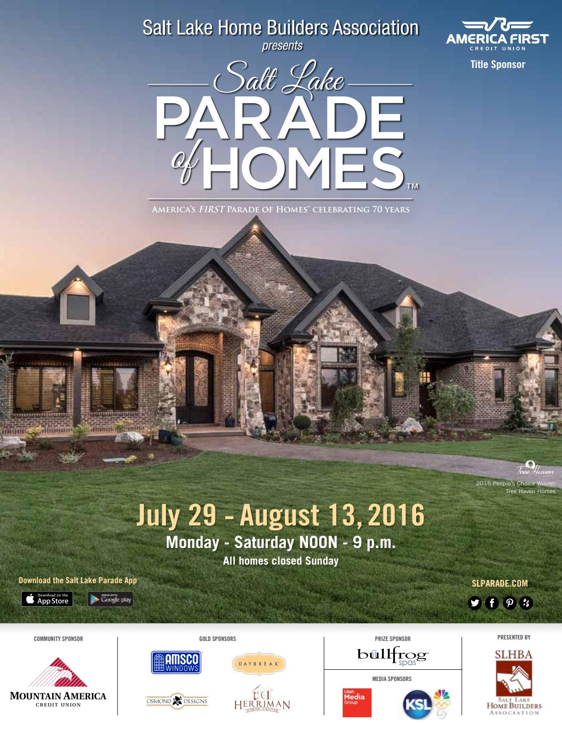 2016 Salt Lake Parade Of Homes Magazine By Utah Media Group Issuu