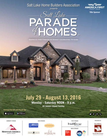 2016 Salt Lake Parade Of Homes Magazine By Utah Media Group