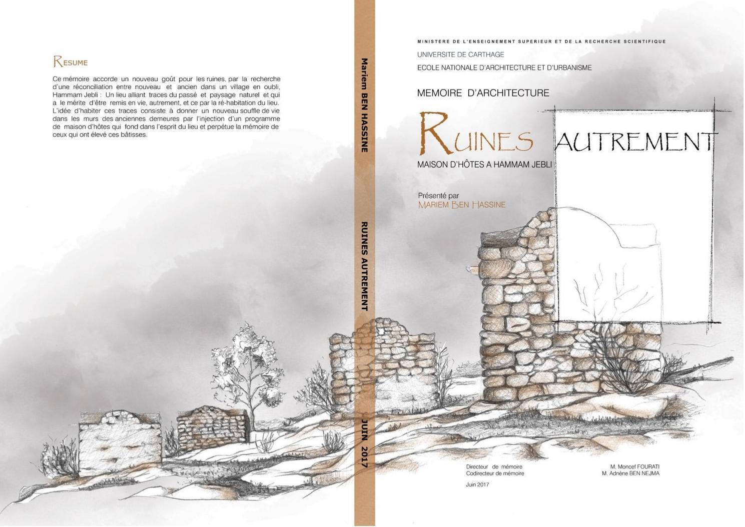 Maison En Ruine Dessin mémoire d'architecture: ruines autrement: maison d'hôtes à