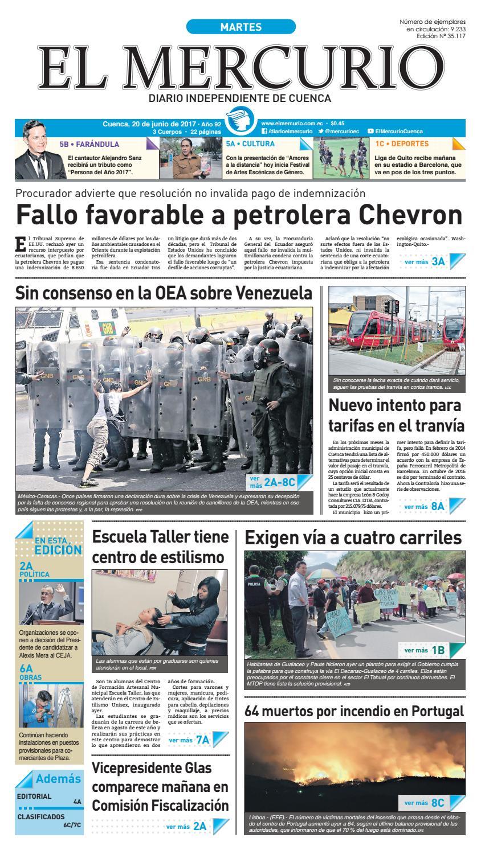 hemeroteca 20-06-2017 by Diario El Mercurio Cuenca - issuu 644ac1565e2