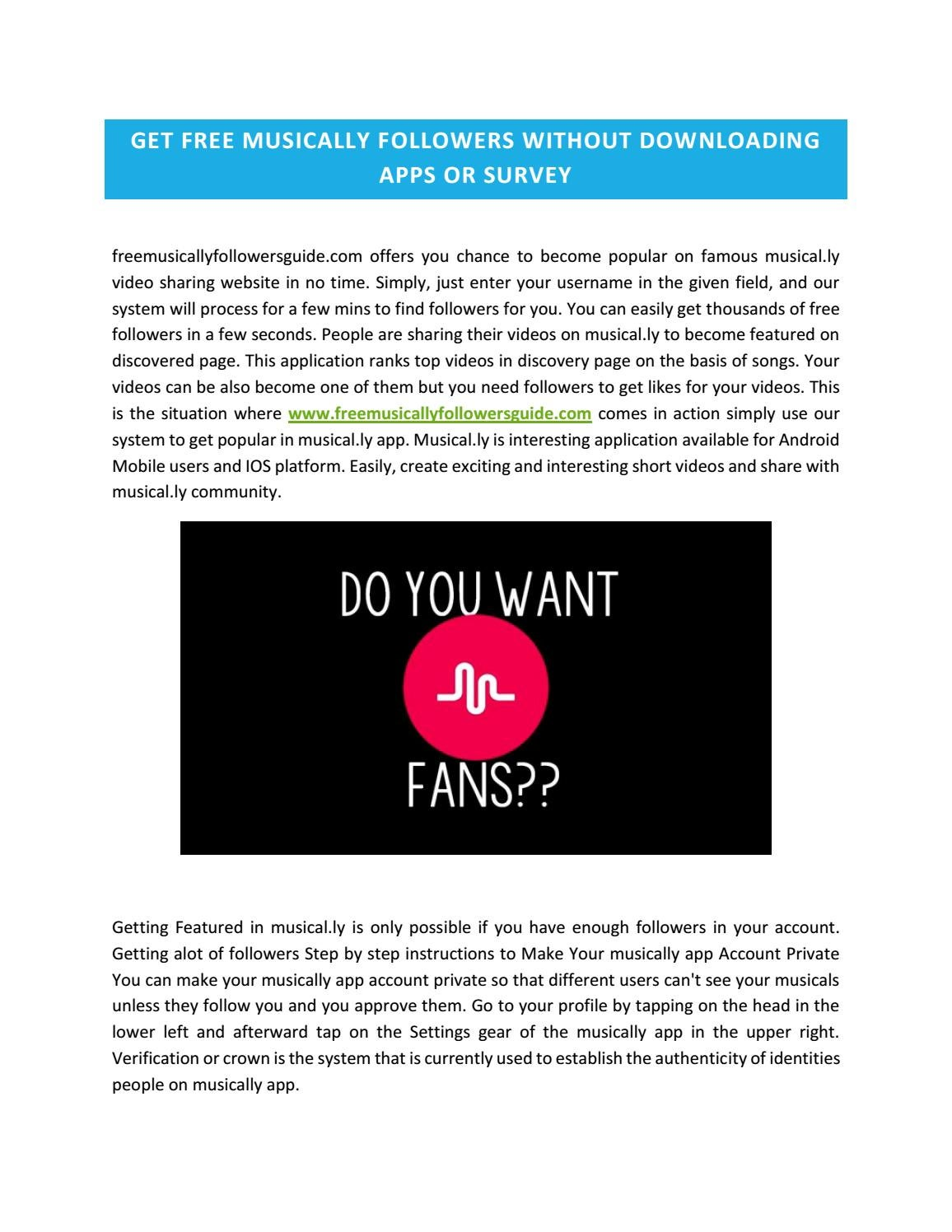 musically fans free no survey or download