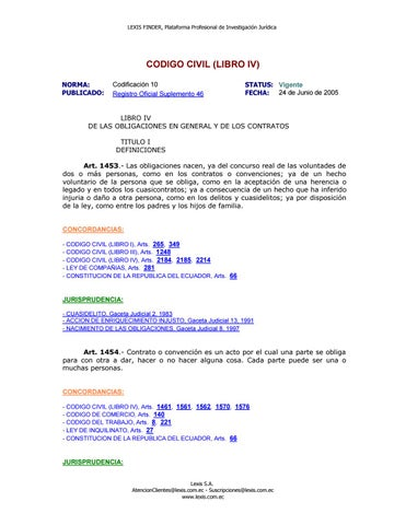 Codigo civil (libro iv) reformado el 22 may 2016 by Catherine ...