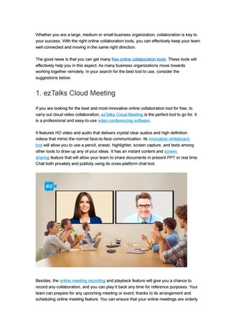 7 Free Online Collaboration Tools in 2017 by ezTalks - issuu