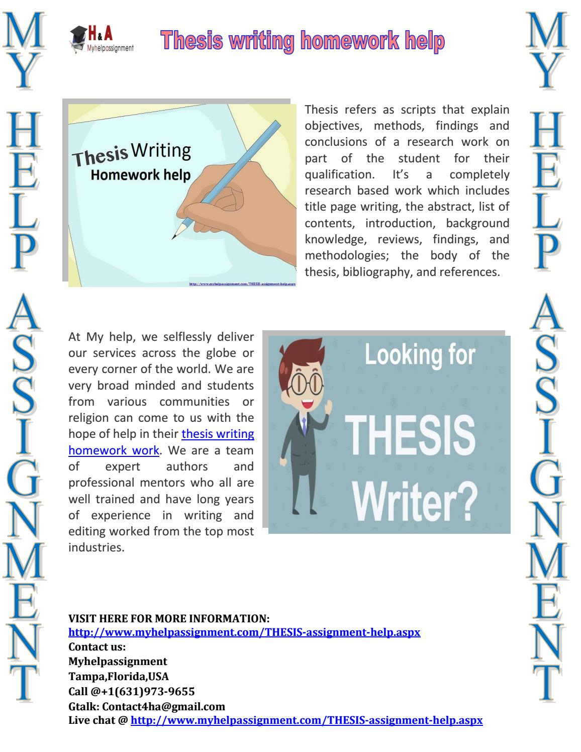 Assignment helper thesis