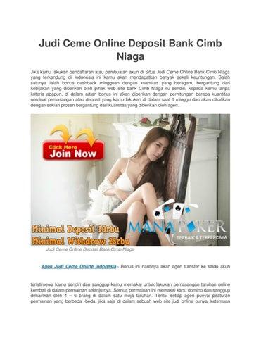 Judi Ceme Online Deposit Bank Cimb Niaga By Verina Larin Issuu