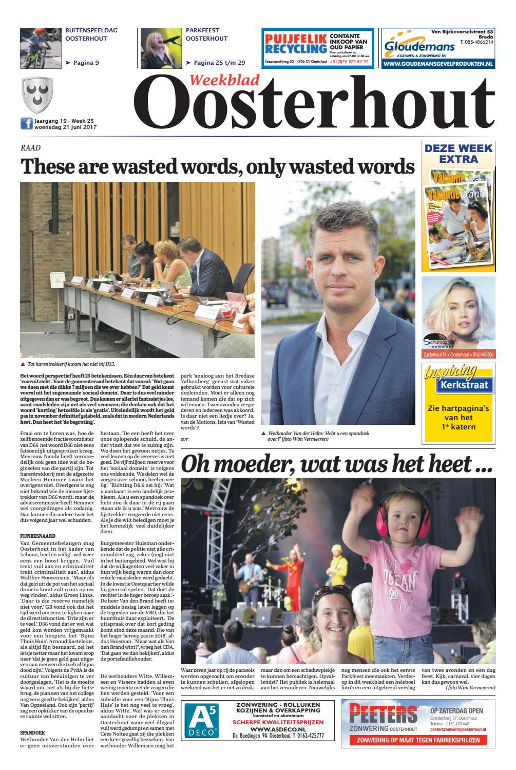 Weekblad oosterhout 21 06 2017 by uitgeverij em de jong for Nassau indus deur bv oosterhout