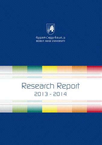 Research Report (2013-2014) by BAUWebsiteOffice - issuu