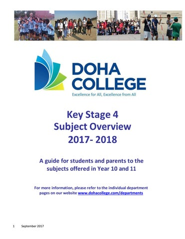 IGCSE subjects overview 2015/16 by Doha College - issuu