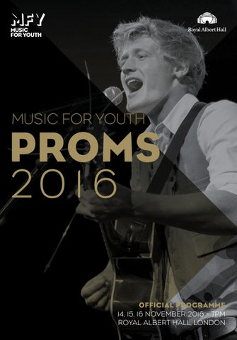 Music for Youth Proms 2016 - Programme by Music for Youth