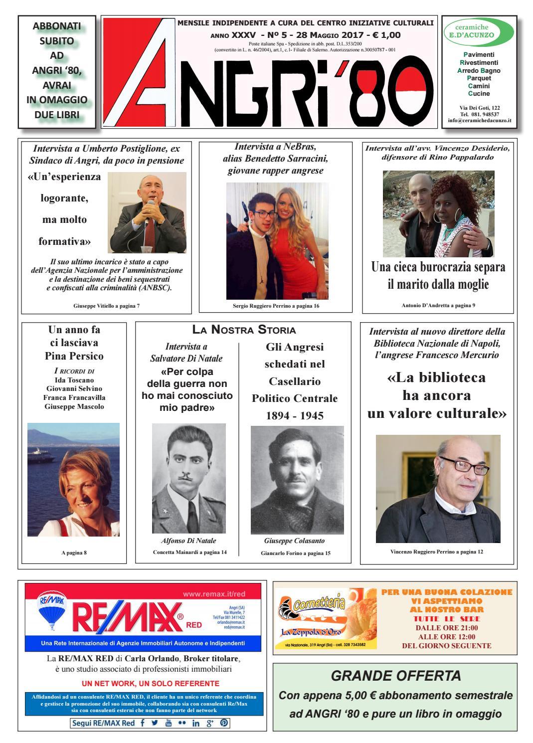 angri 80 mag 2017 finito by lombardi antonio - issuu - Arredo Bagno Angri