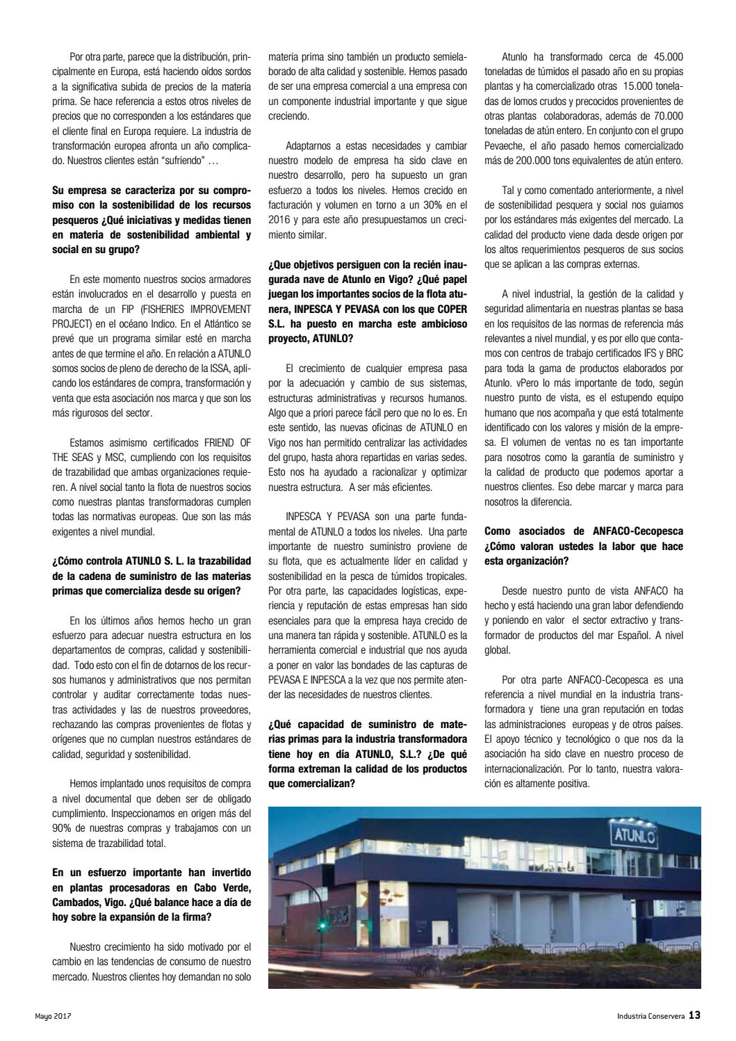 Revista Industria Conservera nº122 by ANFACO - issuu