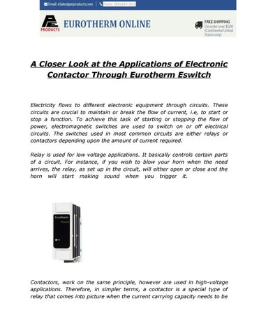 A Closer Look at the Applications of Electronic Contactor Through ...