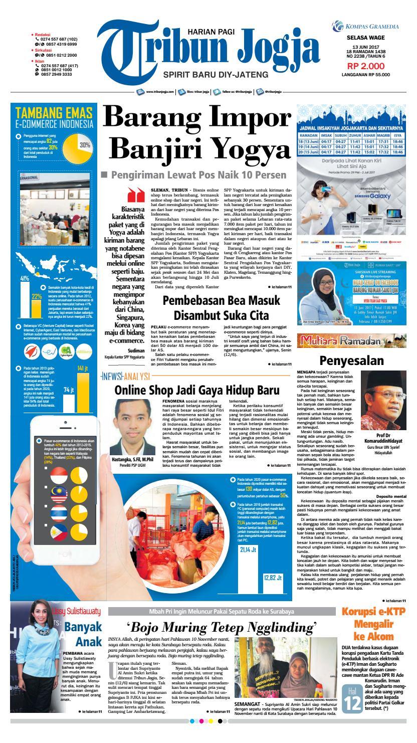 Tribunjogja 13 06 2017 By Tribun Jogja Issuu Rkb Bni Tegal Kranjang Buah Nur Fashion And Art
