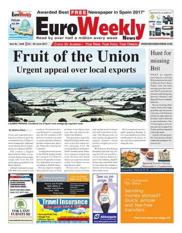 Euro Weekly News Costa De Almeria 22 28 June 2017 Issue