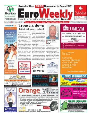 Euro Weekly News Costa Blanca North 22 28 June 2017