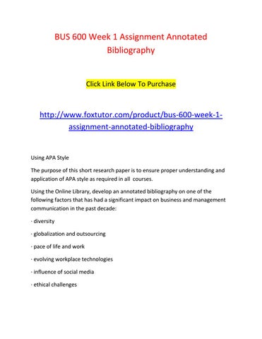 purchase annotated bibliography
