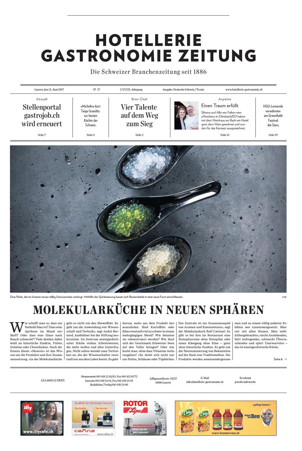 HG-Zeitung 17/2017 by Hotellerie_Gastronomie_Verlag - issuu