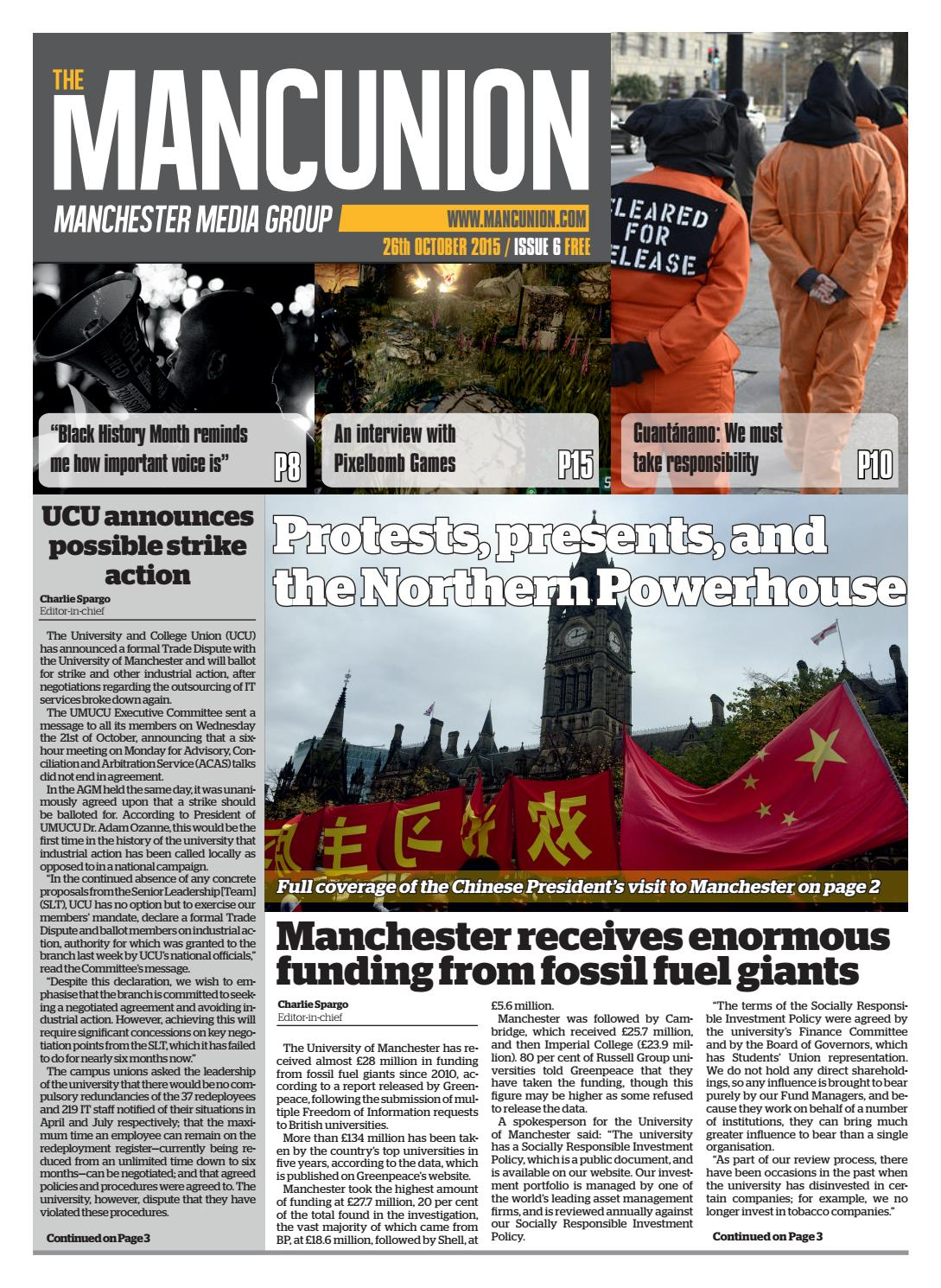 Issue6 by The Mancunion - issuu