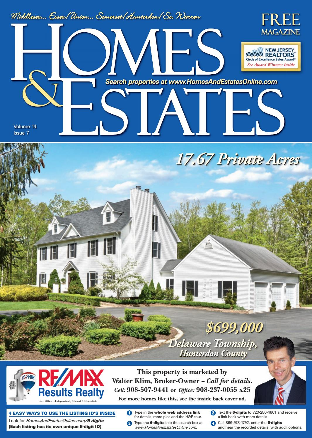 Homes And Estates Magazine Central NJ Edition - June 22
