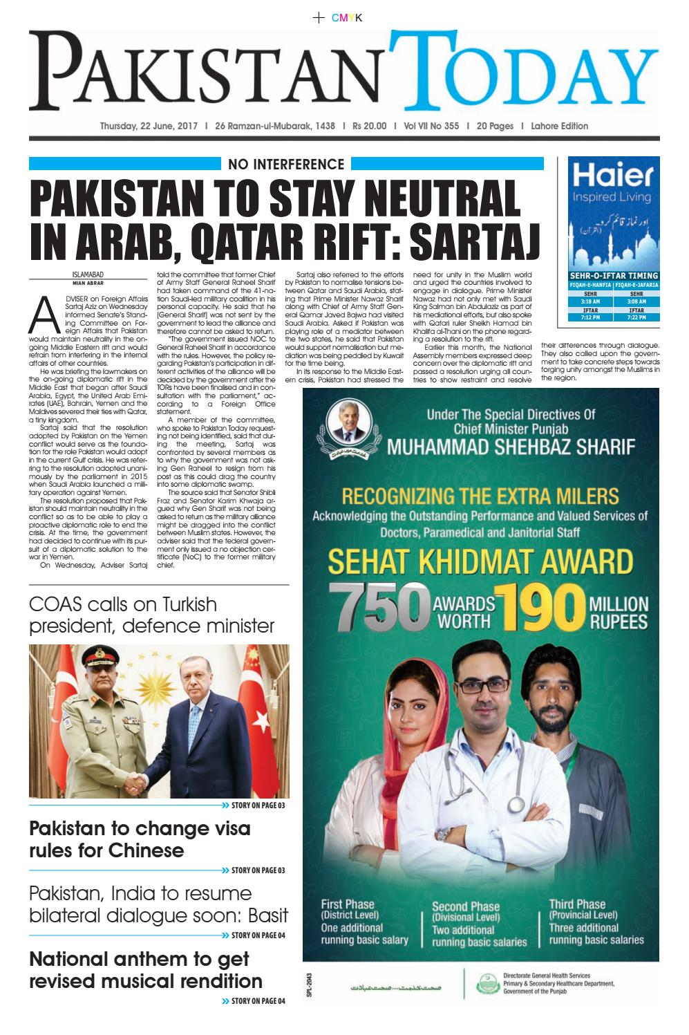 E paper pdf (21 06 2017) (lhr) by Pakistan Today - issuu