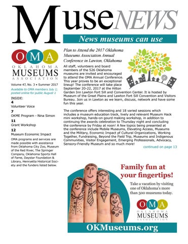 MuseNEWS Summer By Oklahoma Museums Association Issuu - Best free invoice app pioneer woman mercantile online store