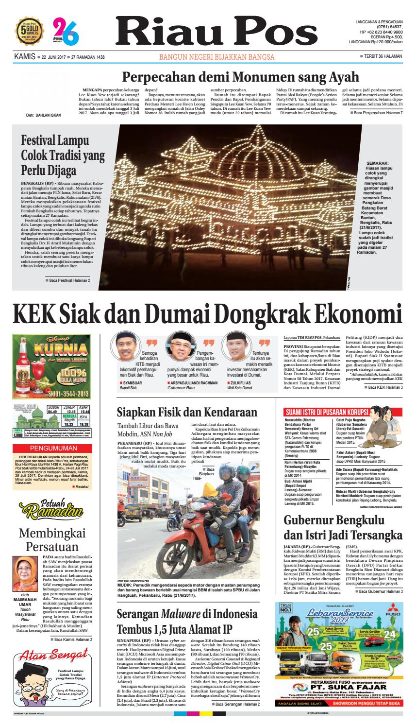 2017 06 22 By Riau Pos Issuu Produk Ukm Bumn Kue Sagu Ikan Haruan