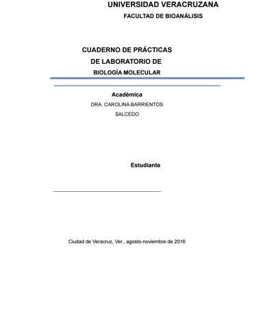 Cuaderno practicas biol mol (4) (2) by Carolina Barrientos - issuu