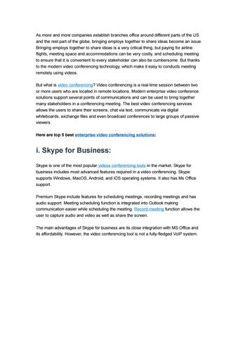 5 Best Enterprise Video Conferencing Solutions Review by ezTalks - issuu