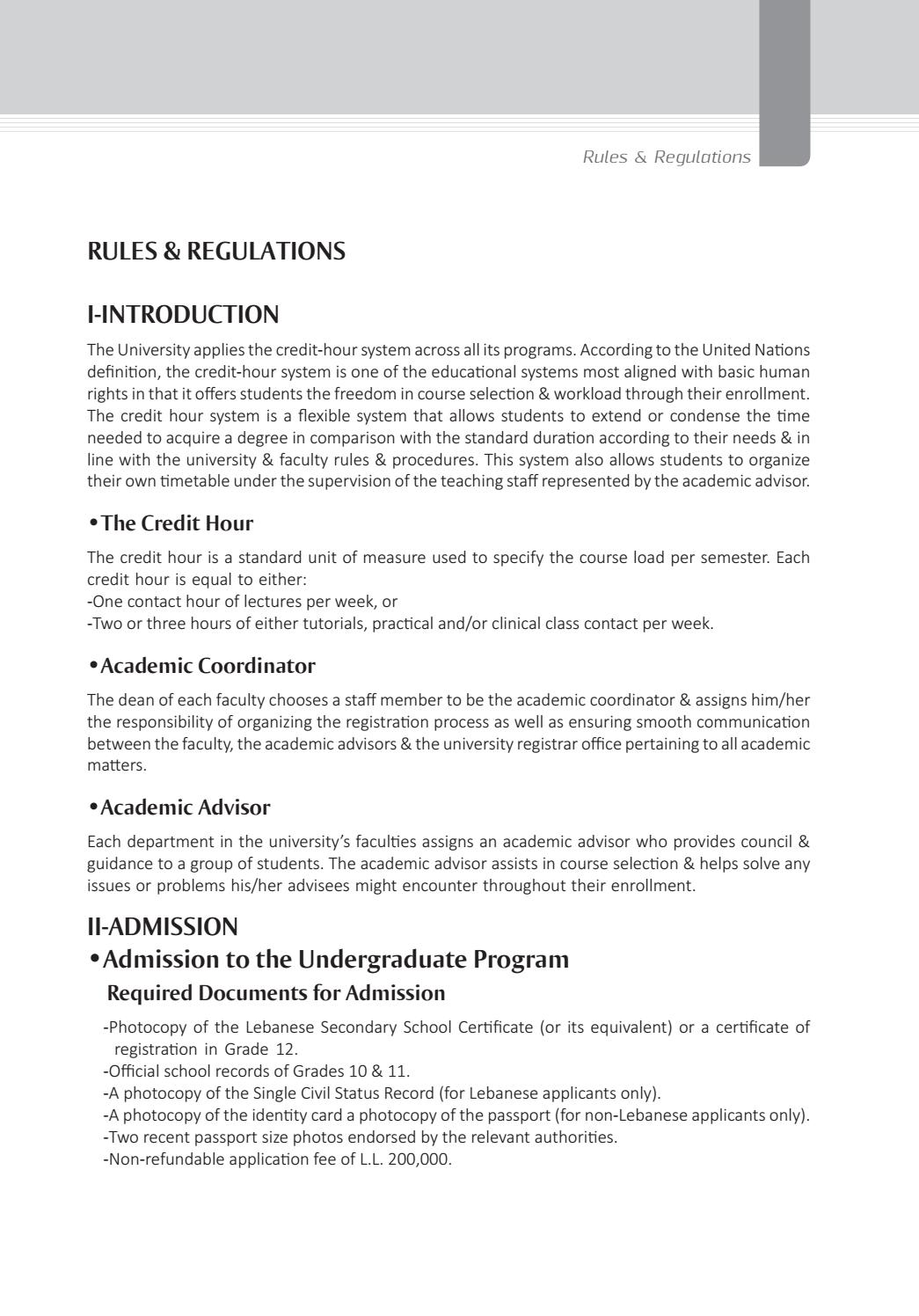 Registration course: rules 67