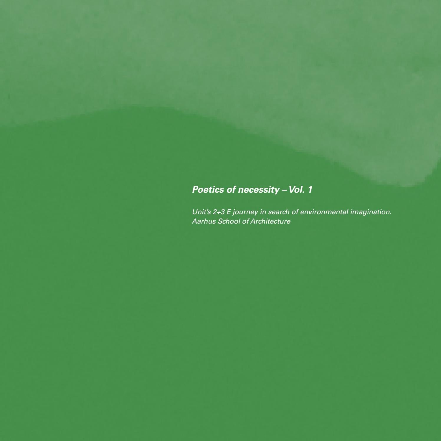 Poetics of necessity units 2 3 e journey in search of environmental imagination vol