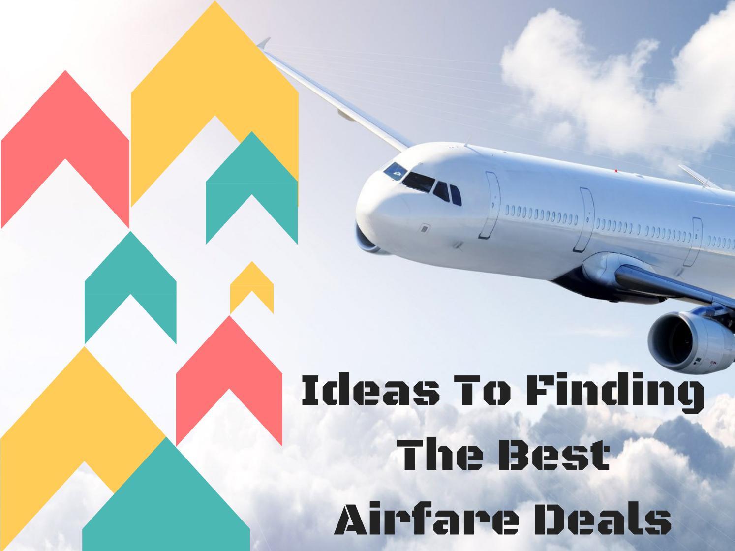 how to find cheap airfare deals