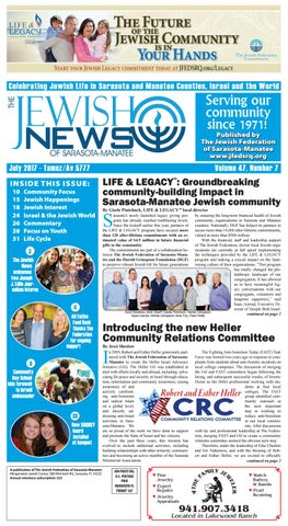 the jewish news - july 2017 by the jewish federation of sarasota ...