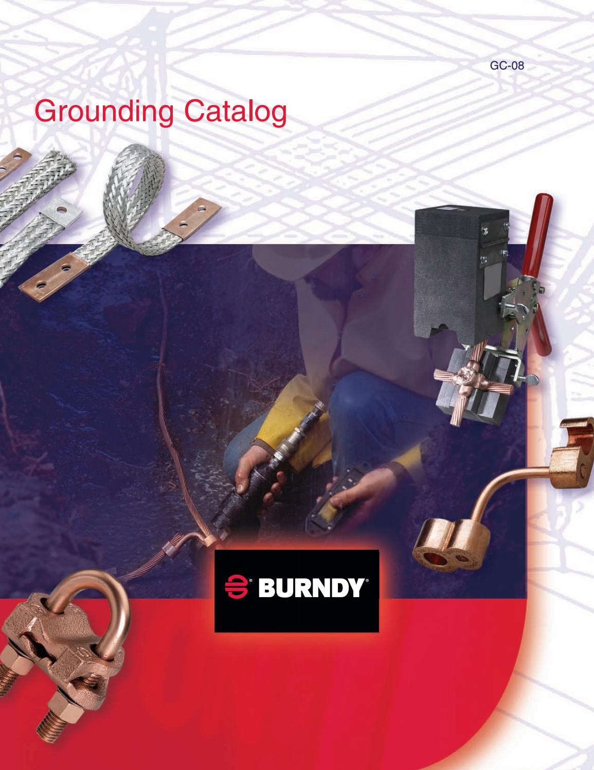 4 AWG Cable Tap 3//4 Groung Rod Burndy B-2160 BCR-3 Type Horizontal Through Cable to Ground Rod Mold Splice