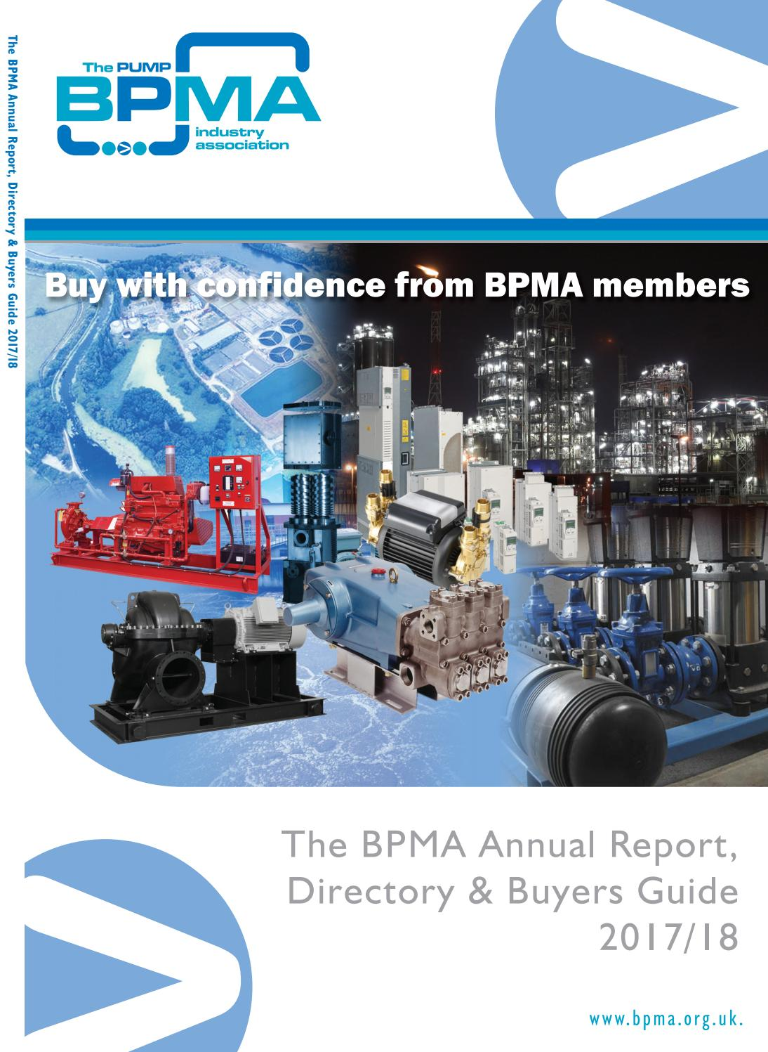BPMA Annual Report, Directory & Buyers Guide 2017/18 by Michael Lane